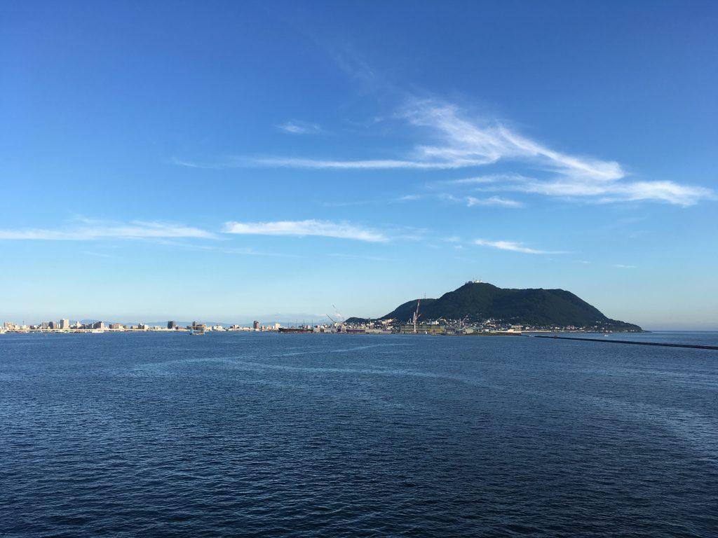 函館山と函館港